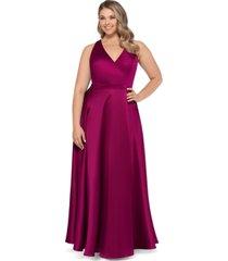 xscape plus size satin ball gown