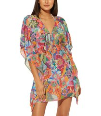 bleu by rod beattie printed caftan swim cover-up women's swimsuit