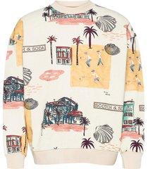 all-over printed felpa crewneck sweat sweat-shirt trui multi/patroon scotch & soda