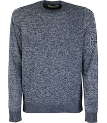 stone island 564d7 crew-neck sweater in cotton