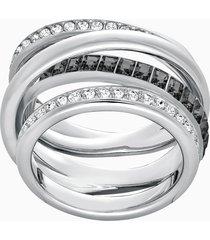 anello dynamic, grigio, placcatura rodio