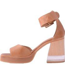 sandalia de cuero suela becca shoes tudela