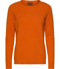 pullover stickad tröja orange marc o'polo
