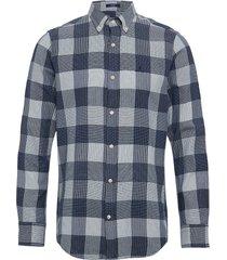 d1. mixed weave reg bd overhemd casual blauw gant