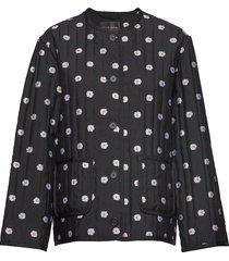 shyla, 579 padded outerwear doorgestikte jas zwart stine goya