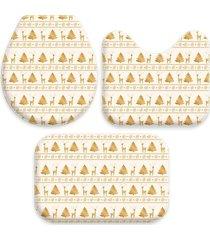 jogo love decor tapetes wevans para banheiro natal dourado