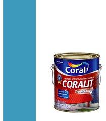 esmalte sintético brilhante coralit azul mar 3,6l - coral - coral