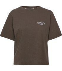 aster t-shirt t-shirts & tops short-sleeved brun rotate birger christensen