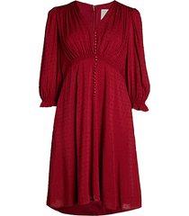 aline smocked shoulder dress