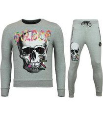 trainingspak enos trainingspakken - slim fit joggingpak - color skull -