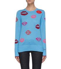 lips merino wool sweater