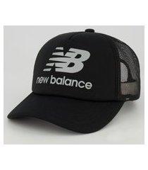 boné new balance logo preto