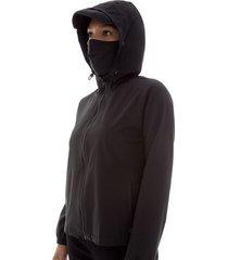 chaqueta antifluido mujer negra color negro, talla l