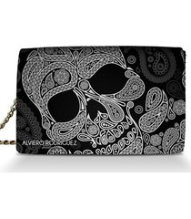 borsa a tracolla alviero rodriguez abstract skull tracolla as unico