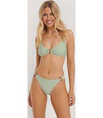 na-kd swimwear bikiniunderdel med hög midja och ringdetalj - green