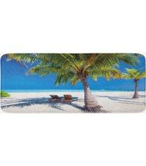 ambesonne beach kitchen mat