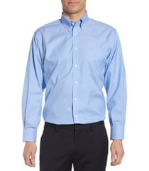 men's big & tall nordstrom smartcare(tm) classic fit dress shirt, size 20 - 36/37 - blue