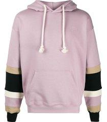 jw anderson striped detail hoodie - purple
