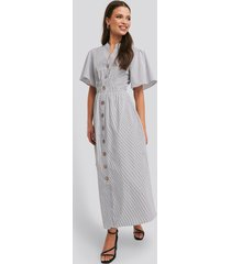 na-kd trend cinched waist maxi shirt dress - multicolor