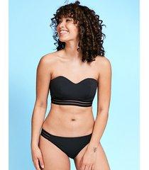 icon cara black underwire bandeau bikini top d-g cup