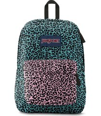 morral jansport superbreak-azul acero/rosa