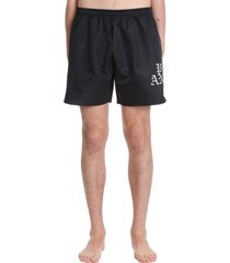 palm angels hue gothic shorts in black polyester