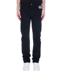 raf simons jeans in black denim