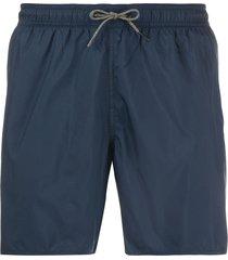 ea7 emporio armani drawstring waist swim shorts - blue