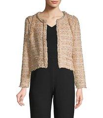 disco crop tweed jacket
