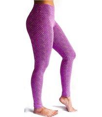 leggings deportivo tobillero estampado mujer morado tykhe india