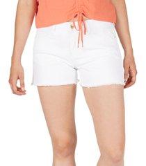 numero mid-rise frayed-hem denim shorts
