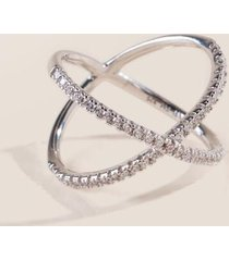 sterling silver criss cross ring - silver