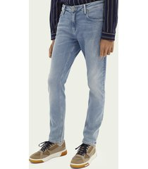 scotch & soda skim super slim fit jeans – blauw trace