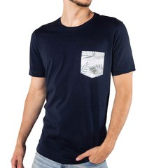 camiseta bolsillo estampado azul oscuro ref. 107060519