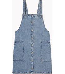 tommy hilfiger women's denim overall dress rinse - l