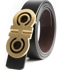 mens gg double g genuine black leather luxury alloy buckle belt