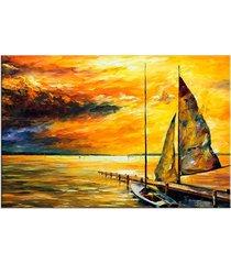 tela decorativa love decor barco a vela médio