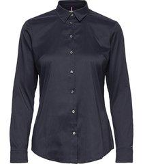 amy str shirt ls w1 overhemd met lange mouwen blauw tommy hilfiger