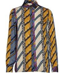 kenzie shirt blouse lange mouwen multi/patroon minus