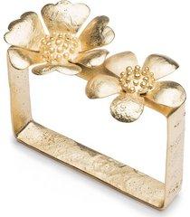 gold plated brass peony bracelet, women's, josie natori