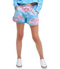 tommy jeans cotton tie-dyed shorts