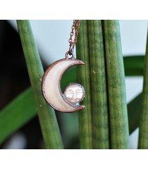 naszyjnik podwójny księżyc