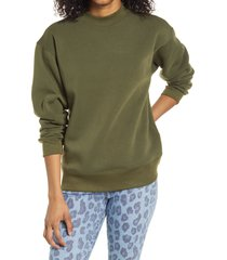 women's bp. mock neck graphic sweatshirt, size x-small - green