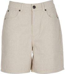 semicouture cream bermuda shorts