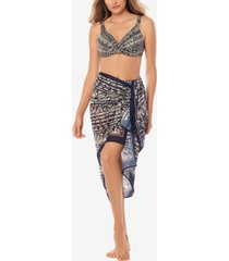 miraclesuit printed scarf cover-up women's swimsuit