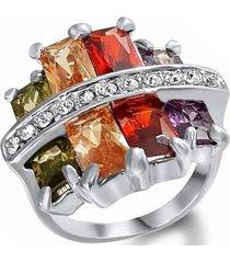 anillo multicolor negro arany joyas