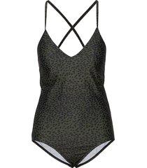 korona swimsuit baddräkt badkläder grå inwear