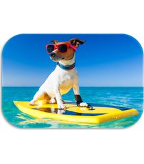 tapete decorativo wevans  dog summer 40cm x 60cm azul - kanui