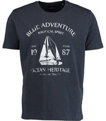 bos bright blue blake t-shirt placed print 19108bl45/290 navy