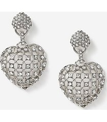 *chunky heart drop earrings - clear